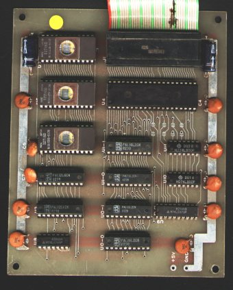 alternate ms pac-man auxilary board w/ extra chips
